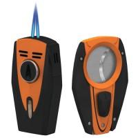 Zapalovač na doutníky Lotus Fury Orange + Ořezávač Lotus Fury Orange